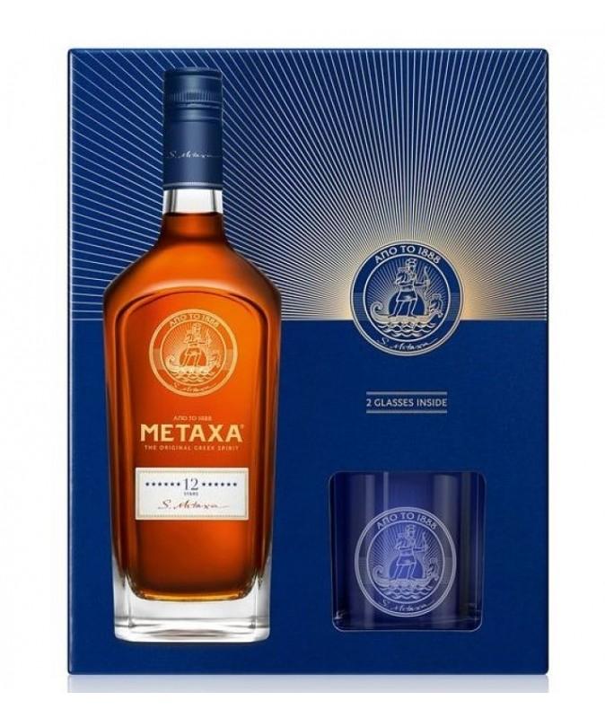 Metaxa 12 Stars Brandy + 2...
